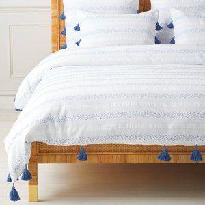 Sea Ranch Cotton Duvet Cover Blue: Serena & Lily